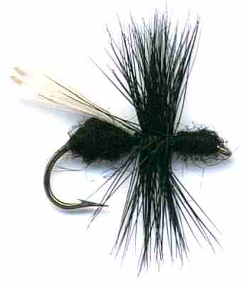 Black Flying Ant Dry Flies for trout fishing