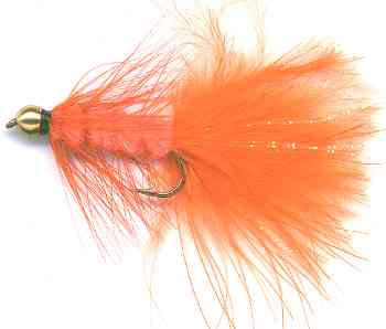 The Beaded Orange Woolly Bugger Fly