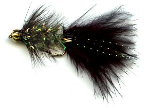 The Viva Crystal Woolly Bugger Fly