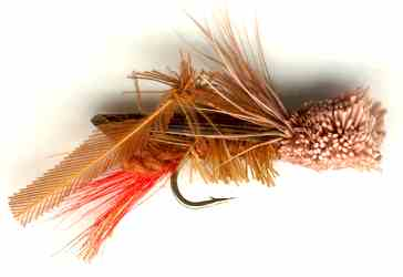 Brown Hopper Dry Fly for Rainbow trout fishing