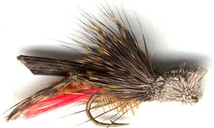 Dave's Hopper Dry Fly for Rainbow trout fishing