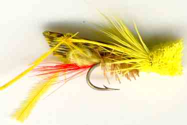 Yellow Hopper Dry Fly for Rainbow trout fishing
