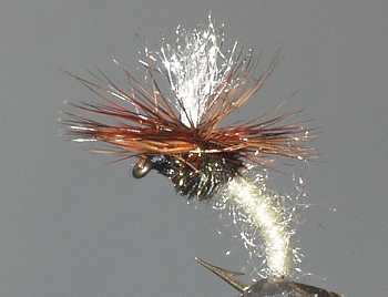 Cream Klinkhammer Emerging Nymph fly  pattern for grayling fishing