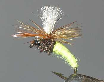 Sulfur - Sulphur Klinkhammer Emerging Nymph fly pattern for grayling fishing