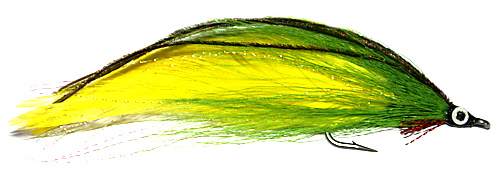 Lefty's Deceiver Green and Yellow Dolphinfish saltwater fly