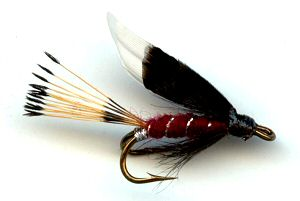 Claret Heckham Peckham Double Hook Wet Fly for trout fishing