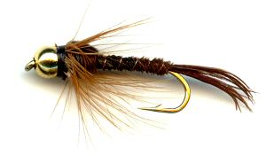 the beaded hackled pheasant tail nymph fly for trout fishing, Fly Fishing Bait