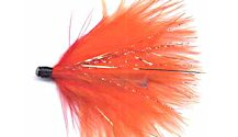 Red and Orange Alaskabou tube fly pattern