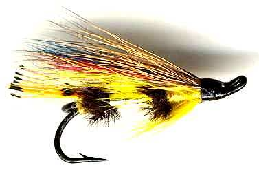 The Yellow Torrish Double Hook Salmon Fly