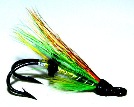 The Green Highlander Double Hook Salmon Fly