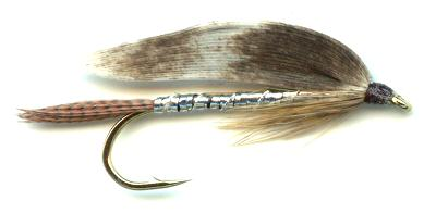 The Silver March Brown Single Hook Streamer