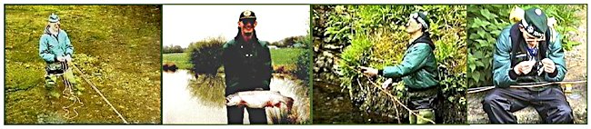 Adrian Medcalf fly fishing for trout