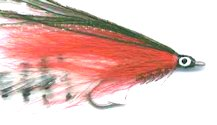 Barred White and Red Lefty's Deceiver fly pattern