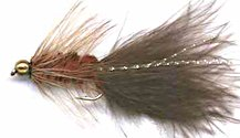 Beaded Brown Woolly Bugger fly pattern