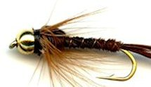 Beaded Hackled Pheasant Tail Nymph fly pattern