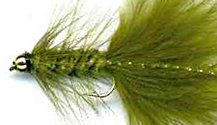 Beaded Olive Woolly Bugger fly pattern