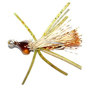 The Brown Bitter saltwater small crab fly pattern
