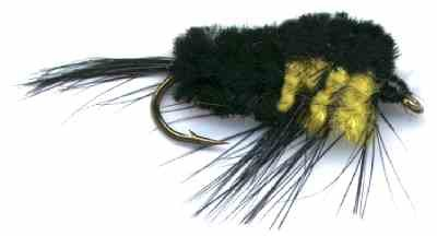 Black and Yellow Montana Stonefly Nymph Fly pattern