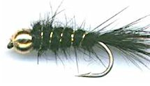 Black Beaded Gold Ribbed Hare's Ear Nymph fly pattern
