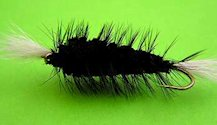 Black Bomber Salmon Deerhair Dry fly pattern