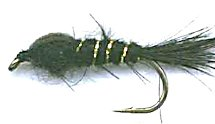 Black Gold Ribbed Hare's Ear Nymph fly pattern