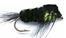 Black and Light Green Montana Stonefly Nymph fly pattern