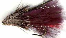 Black Marabou Muddler Minnow Streamer fly pattern