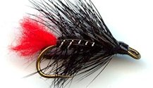 Black Zulu Double Hook Wet fly pattern