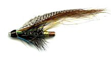 Blue Charm One Inch Copper Salmon Tube fly pattern