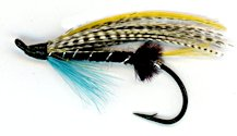 Blue Charm Feather Wing Salmon Single Hook fly pattern
