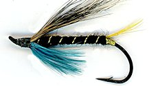 Blue Charm Hairwing Salmon Single Hook fly pattern
