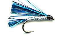 Blue and Silver Sparkler Streamer fly pattern