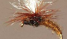 Brown Klinkhammer Parachute Emerging Nymph fly pattern