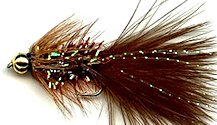 Brown Crystal Woolly Bugger fly pattern