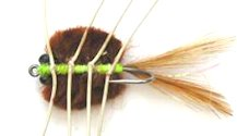 Del Brown's Merkin style Brown Saltwater Permit Mud Crab fly pattern