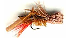 Brown Hopper Dry fly pattern