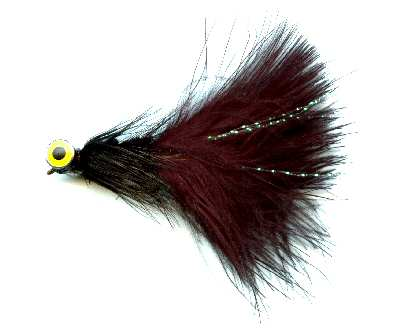 The Black Deepwater Woolly Bugger Fly