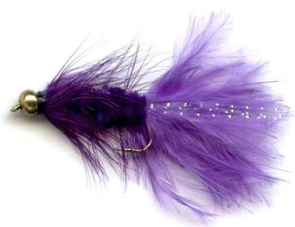 The Purple Beaded Woolly Bugger Fly