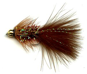 The Brown Crystal Woolly Bugger Fly