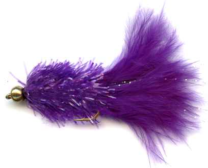 The Purple Crystal Woolly Bugger Fly