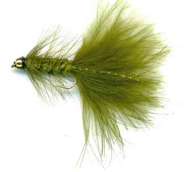 The Beaded Olive Woolly Bugger Fly