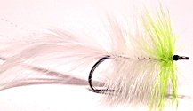 Chartreuse and White Seaducer fly pattern
