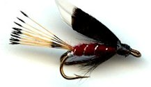 Claret Heckham Peckham Double Hook Wet fly pattern