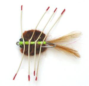 Del Brown's Merkin style Brown Saltwater Permit Mud Crab Fly