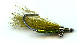Olive Crazy Charlie Bonefish saltwater Fly fishing flies