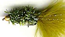 Olive Crystal Woolly Bugger fly pattern