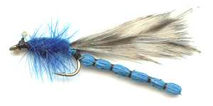 Beadchain Blue-Flash Micro Damsel Damsel Nymph Size 12 Trout Fishing Flies