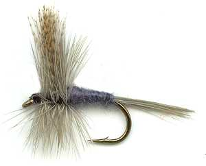 Dark Hendrickson Dry Fly for brown trout and grayling fishing