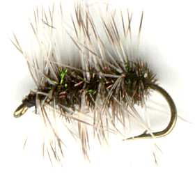 Griffiths Gnat Midge Dry Fly pattern for trout fishing