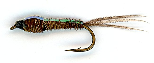 Flashback Pheasant Tail Nymph size 18 fishing flies E29 One Dozen 12